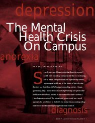 (NASPA) - The Mental Health Crisis on Campus - Oklahoma State ...