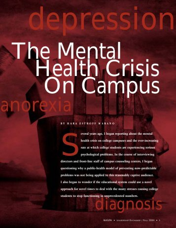 (NASPA) - The Mental Health Crisis on Campus - Oklahoma State ...