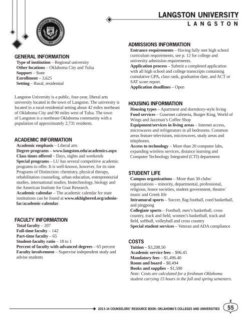 Oklahoma State Academic Calendar.Counselors Resource Book 2012 13 Indd Oklahoma State