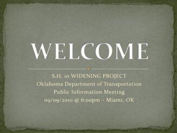Presentation - Oklahoma Department of Transportation