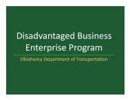 Disadvantaged Business Enterprise Program - Oklahoma ...