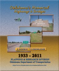 2011 Oklahoma's Memorial Highways & Bridges