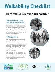 Walkability Checklist - National Highway Traffic Safety Administration