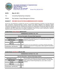 subject: revised solicitation (submission date change) - Oklahoma ...