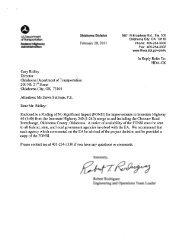 Environmental Assessment - Oklahoma Department of Transportation