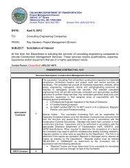 Solicitation Packet - Oklahoma Department of Transportation