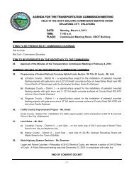 Agenda - Oklahoma Department of Transportation