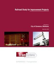 Railroad Study for Improvement Projects - Oklahoma Department of ...