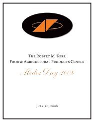 Media Day 2008 - Robert M. Kerr Food & Agricultural Products Center