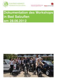 Dokumentation des Workshops in Bad Salzuflen am 28.06.2012