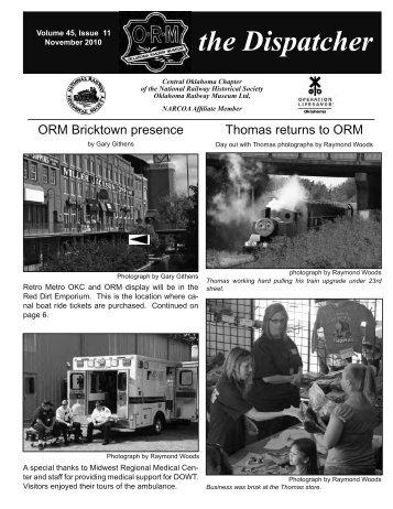 November_2010_Dispatcher - Oklahoma Railway Museum
