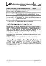 Statische wegweisende Beschilderung - OKSTRA - Objektkatalog ...
