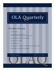 OLA Quarterly - Oregon Library Association
