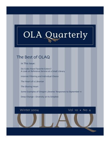OLA Quarterly - Oregon Library Association