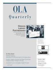 4.4 Winter 1999 - Oregon Library Association