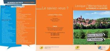 Télécharger le lexique de vocabulaire postal (PDF 193 Ko) - Olca