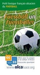 Télécharger le lexique français-alsacien du football (PDF - OLCA