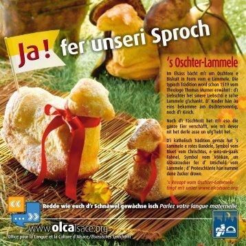 Télécharger l'affichette du Oschter-Lammele - OLCA