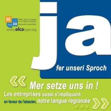 """téléchargez la plaquette """"JA fer unseri Sproch"""" (PDF, 543 Ko) - OLCA"""