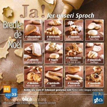 Télécharger l'affichette des Bredle de Noël (PDF, 578 Ko) - Olca