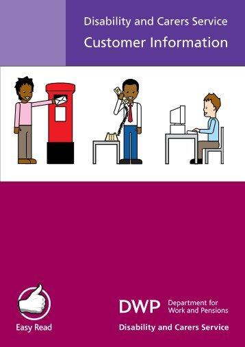 Customer Information leaflet - Disability and Carers Service - Gov.uk