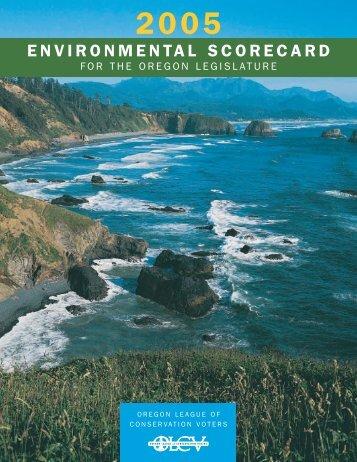 View the 2005 Scorecard - Oregon League of Conservation Voters