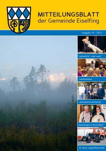 Mitteilungsblatt der Gemeinde Eiselfing