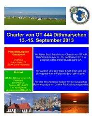 Charter von OT 444 Dithmarschen 13.-15. September 2013