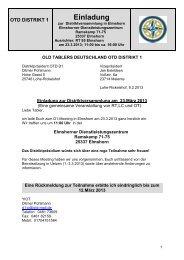 D1-Meeting - Old-Tablers Deutschland