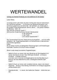 Wertewandel - Old-Tablers Deutschland