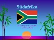 OT-Vortrag über Südafrika - Textversion - Old-Tablers Deutschland