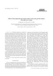 Effect of soil compaction and organic matter on - International ...