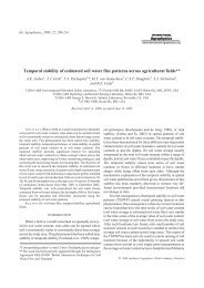 Temporal stability of estimated soil water flux patterns ... - PC-Progress