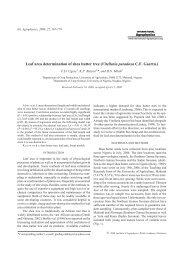 Leaf area determination of shea butter tree - International Agrophysics