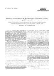 Influence of superabsorbents on the physical properties of ...