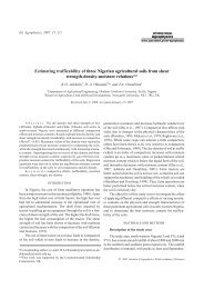 Estimating trafficability of three Nigerian agricultural soils from shear ...