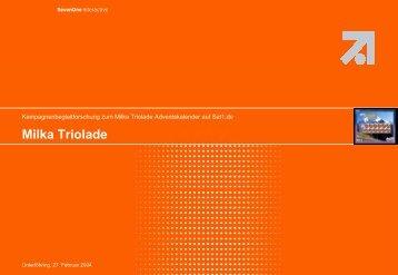 Milka Triolade - Wirkstoff TV