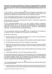 1 Verordnung des Landkreises Oldenburg zum Schutze von ...
