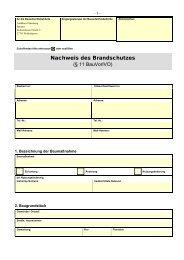 Brandschutznachweis - Landkreis Oldenburg