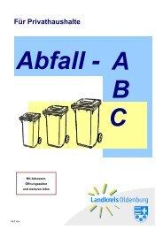 Abfall-ABC für Privathaushalte - Landkreis Oldenburg