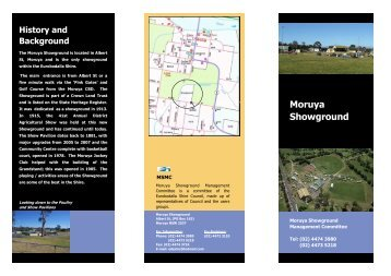 Showground Brochure - Eurobodalla's Community Website