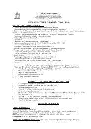 Lista de Material EF 2013 - Colégio Dom Barreto