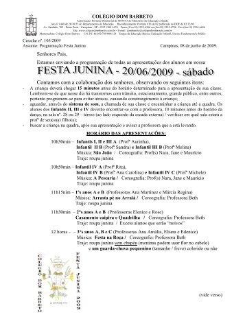 Festa Junina autorização 2009 - Colégio Dom Barreto