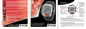 S720i™/S710i - Für Sport, Fitness und Wellness