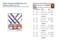 TERÇA-FEIRA 16/10 - Colégio Dom Barreto