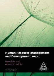 Human Resource Management and Development 2012 - Kogan Page