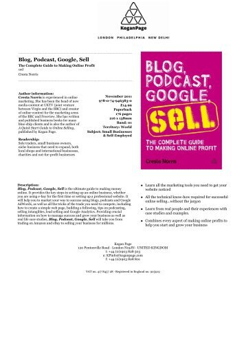 Blog, Podcast, Google, Sell - Kogan Page
