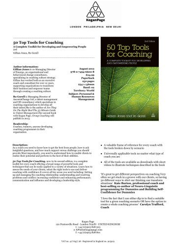 50 Top Tools for Coaching - Kogan Page