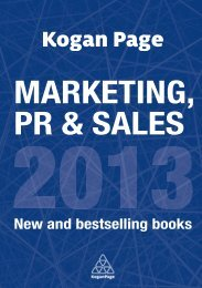 MARKETING, PR & SALES - Kogan Page