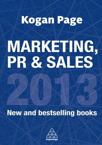 MARKETING, PR & SALES - Kogan Page